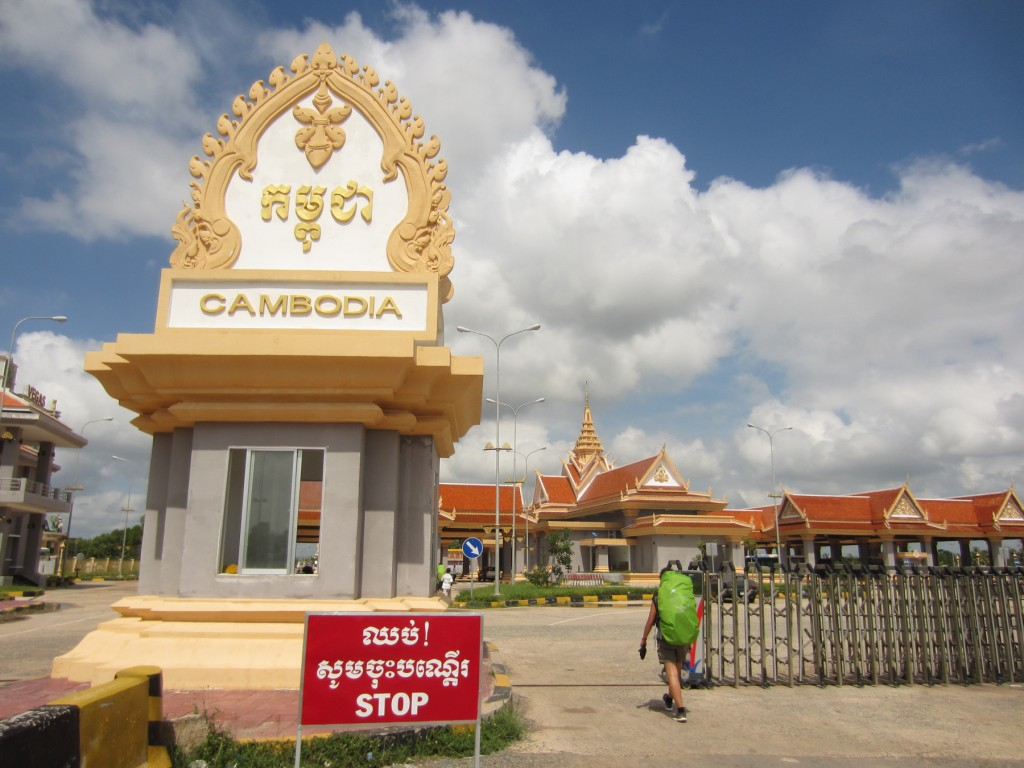 Le poste frontière Cambodgien