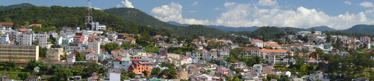 vietnam dalat ville panorama