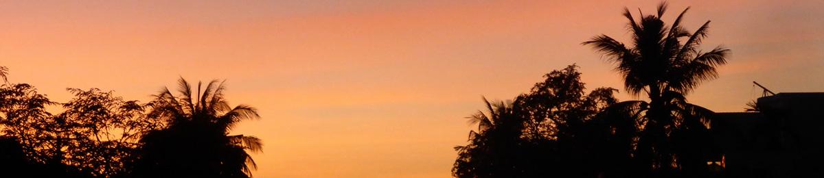 Coucher de soleil sur battambang
