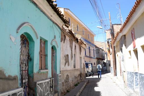 Petites rues pavées de la ville