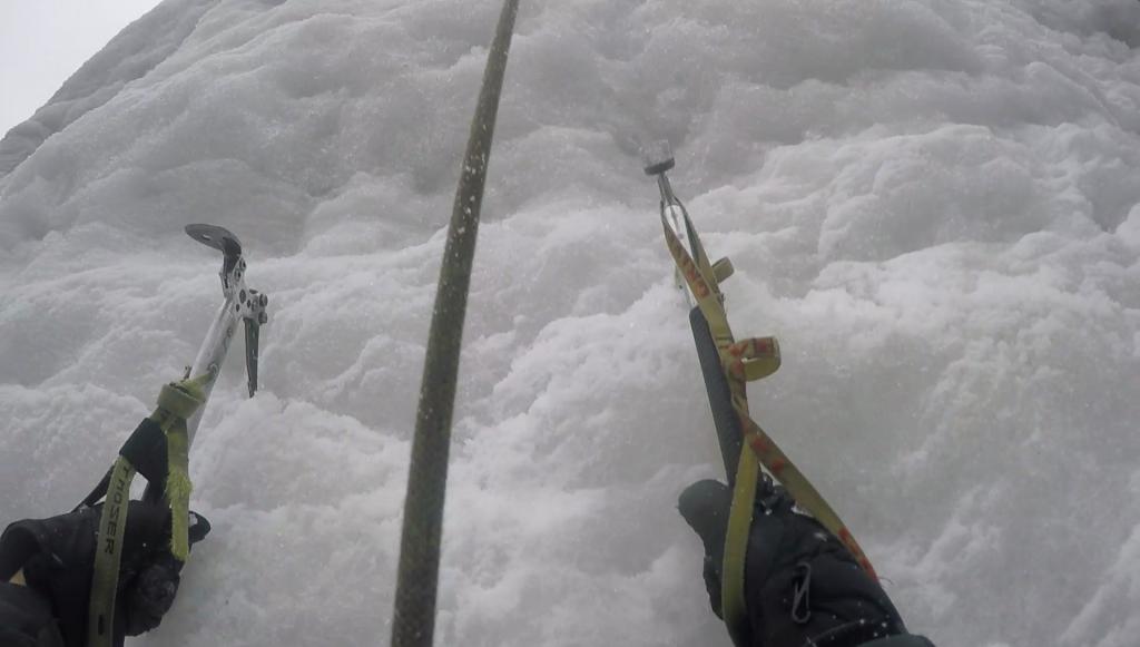 Entraînement sur le mur de glace