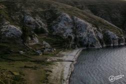 Habitations face au lac