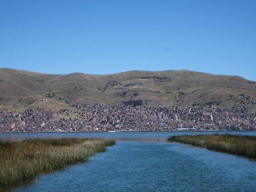 Vue de Puno du lac