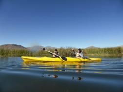 En mode kayak sur le lac Titicaca